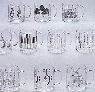 Mug -  Glass Mug (instrument & notes)