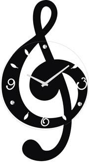 Clever G Clef Design Clock By Ashton Sutton