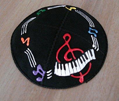 Yarmulke/Kippah with Musical Theme