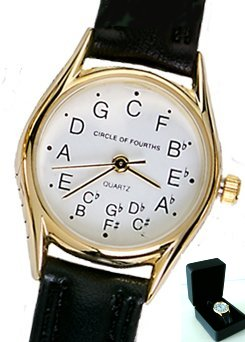 Circle of Fourths Standard Gold Plated watch