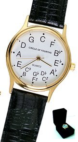 Circle of Fourths Deluxe Gold Plated Watch