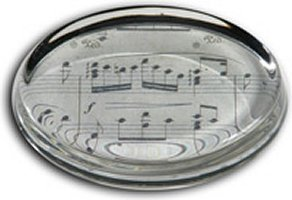 Paperweight with Sheet Music Design