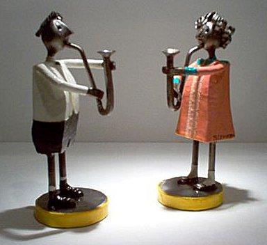 Felguerez SculptureSaxophonist Boy