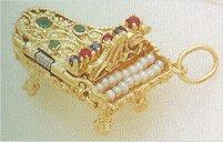 Charms 14K Jeweled Piano (ornate)