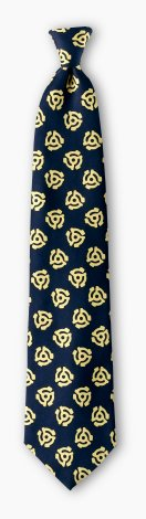 Necktie with 45 rpm adapter design