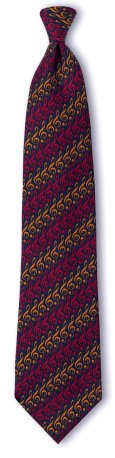 necktie with subtle G Clef designs