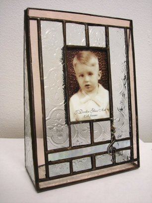Photo Frame Antique Style Glass with G Clef  Charm for 2x3 photo (1.18m)