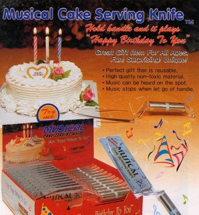 Musical Cake Serving Knife