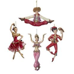 Christmas Tree Ornaments Nutcracker Suite  International Dancers  Set of Four