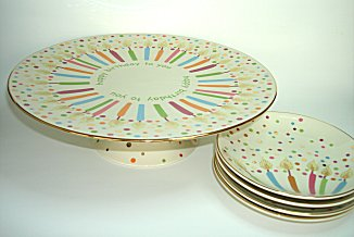 Cool Lenox Candles And Confetti Singing Cake Plate Ideas Best