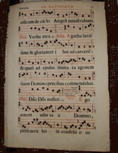 1650 Gregorian Chant Manuscript