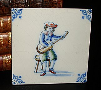 Delft Blue Tile - Guitarist