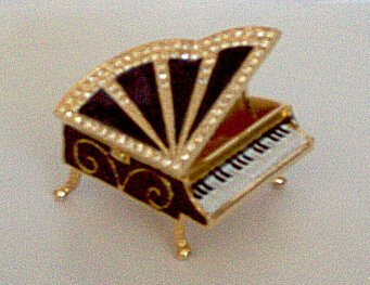 Bejeweled Baby Grand Trinket Box
