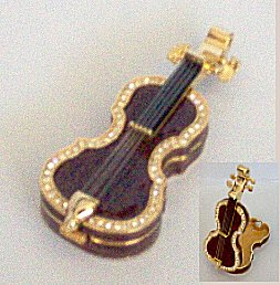 Bejeweled Cello Box (Small  Brown)