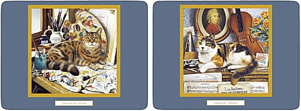 Pimpernel Creative Cats Placemats  Set of 4