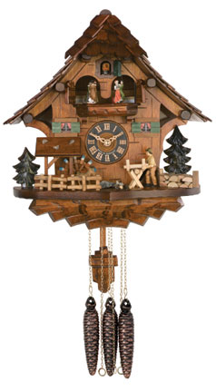 Cuckoo Clock One Day Musical Waterwheel