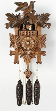 Cuckoo Clock Eight Day Musical Five Leaves and One Bird