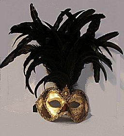 Mardi Gras Masks Sheet Music Motif -5