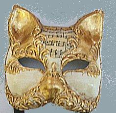 Mardi Gras Masks Sheet Music Motif -6