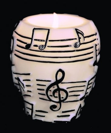 Urn Shaped Black Candle on White