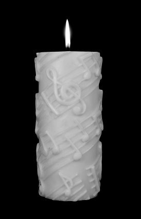 Tall Pillar White on White Candle