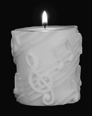 Small Pillar Candle White on White