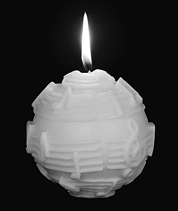 Ball Candle White on White