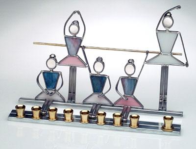 Menorah Stained Glass Ballet