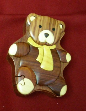 Wooden Teddy Bear Puzzle