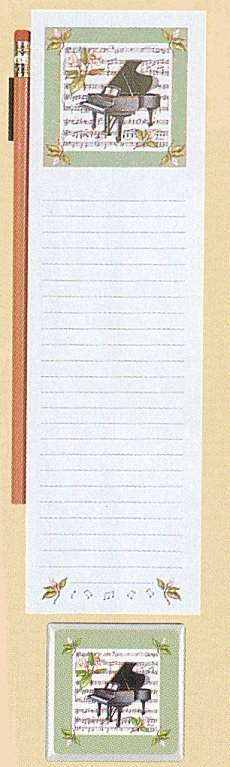 Wellspring Piano Note Pad Pencil and Magnet