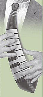 Play Music on this Musical Keyboard Tie