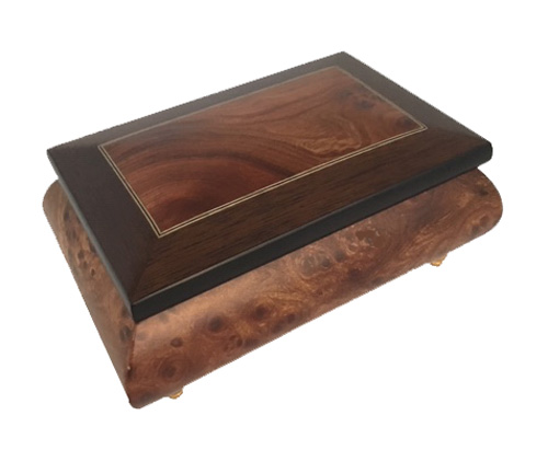 Handsome Matte three wood Music box