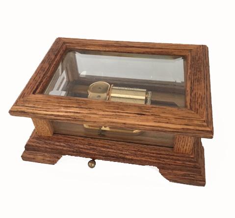 Honey Oak and Glass 30  note Music Box