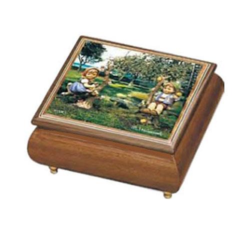 Hummel Apple Tree Boy and Girl Music Box