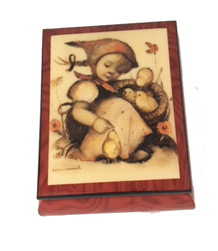 "Hummel ""little Girl with Chicks"" Music Box by Ercolano"