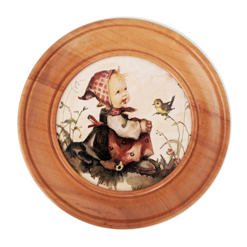 Vintage Musical Pull String Girl with Bird by Hummel
