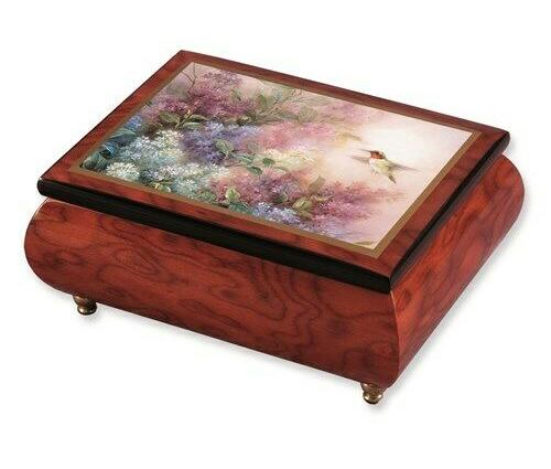 Lena Liu Music Box Hummingbird with Lilacs
