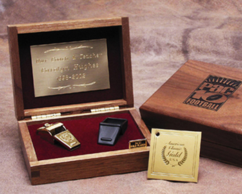 American Award Whistles in Hard Wood Presentation Box