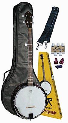 J Reynolds 5 String Banjo Package