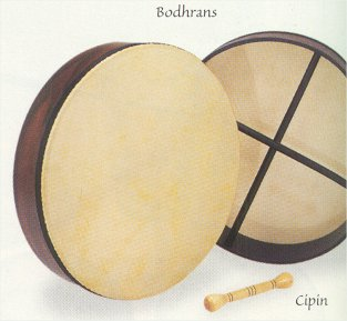 Bodhrans and Hand Drums