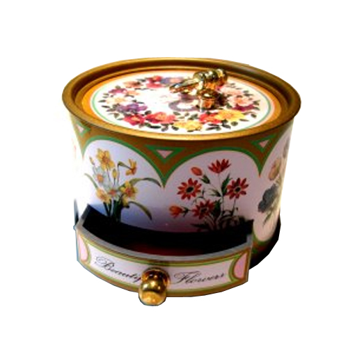 Keepsake Musical Box with Flowers