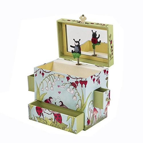 Ladybug Musical Treasure Box by Enchantmints