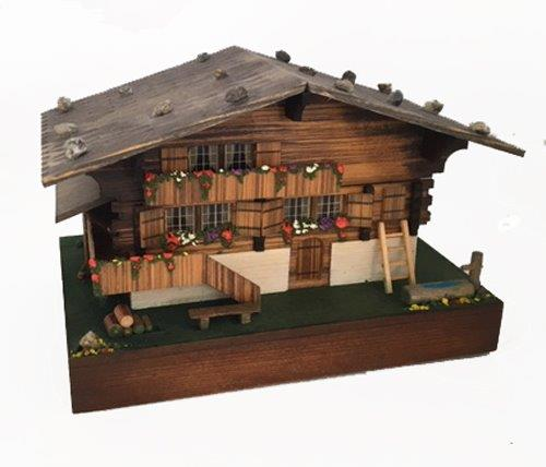 Swiss Chalet Music Box Plays Edelweiss