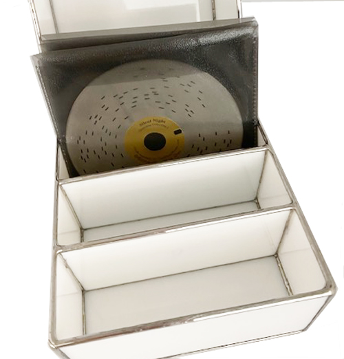 New matching leaded glass Disc Storage box