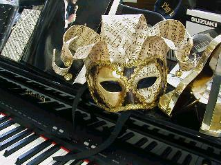 Mardi Gras Masks  Sheet Music Motif -1