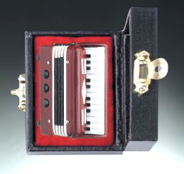 Miniature Brown Accordion