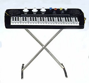 Miniature Keyboard Ornament