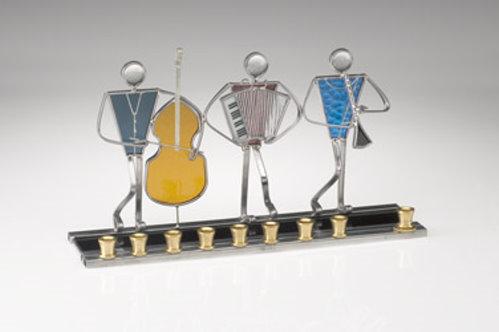 Stained Glass Menorah - Kezmer Trio