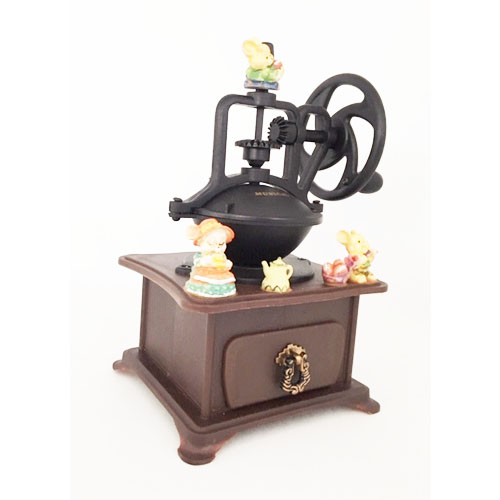 Antique Mice on a Coffee Grinder Music Box
