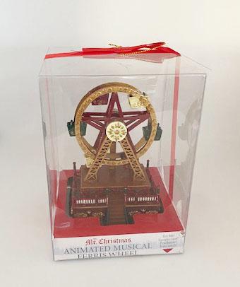 Mr Christmas Mini Ferrid Wheel in Clear Box for Presentation
